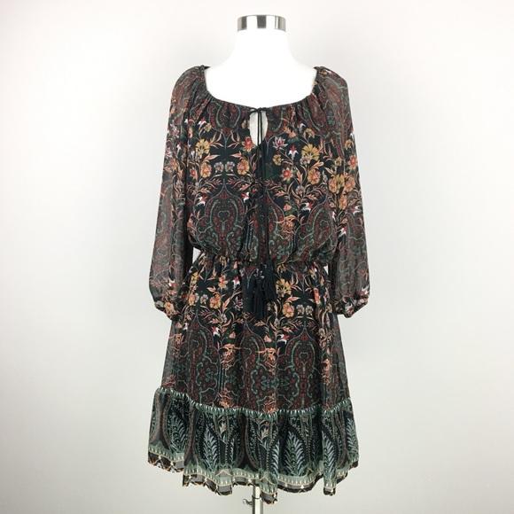As U Wish Dresses & Skirts - NWT AUW As U Wish Peasant Paisley Dress Size S